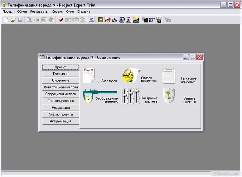 Программа Project Expert
